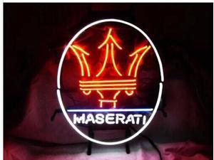 Fashion Neon Sign MASERATI EUROPEAN AUTO Handcrafted Real Glass Lamp Neon Light Neon Sign Beerbar Sign Neon Beer Sign 19x15