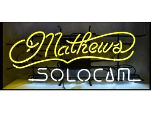 Fashion Neon Sign MATHEWS Handcrafted Real Glass Lamp Neon Light Neon Sign Beerbar Sign Neon Beer Sign 19x12