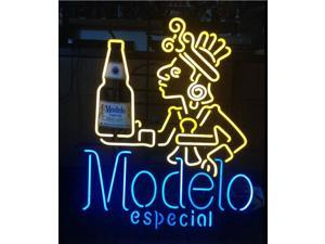 Fashion Neon Sign Modelo neon Handcrafted Real Glass Lamp Neon Light Neon Sign Beerbar Sign Neon Beer Sign 19x15