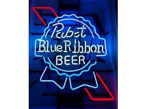 Fashion Neon Sign Pabst Blue Ribbon Handcrafted Real Glass Lamp Neon Light Neon Sign Beerbar Sign Neon Beer Sign 19x15