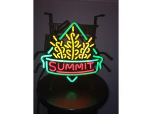 Fashion Neon Sign  Summit Brewing Handcrafted Real Glass Lamp Neon Light Neon Sign Beerbar Sign Neon Beer Sign 19x15