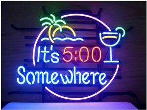 Fashion Neon SignITS 500 SOMEWHERE. Handcrafted Real Glass Lamp Neon Light Neon Sign Beerbar Sign Neon Beer Sign 19x15