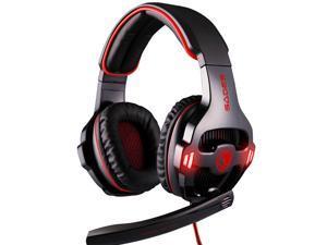 Sades SA-903 7.1 Surround Sound Effect USB Gaming Headset Headphone with Mic - White