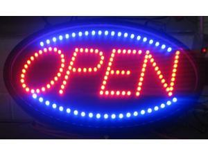 "OneDealOutlet Ultra Bright LED Open Sign 2 Pattern Motion 13""x22"" Oval, LED light, Indoor"