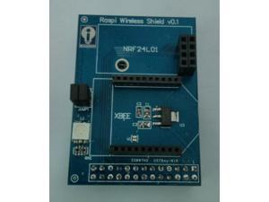 Raspberry Pi wireless Shield expansion board support Zigbee XBee NRF24L01