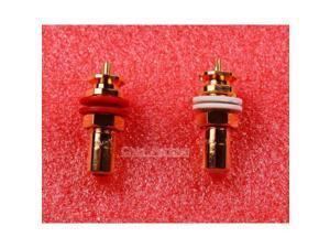 One Pair CMC 816 RCA terminals Amplifier Copper Gold Plated RCA socket Plug