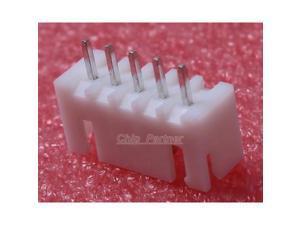 50pcs XH2.54-5P 2.54mm Socket Connector Pin Header Plastic base Metal Pin