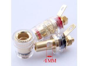 30 PCS Binding Post TO TV AV Speaker Cables Amplifier Terminals Banana Plug