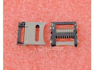 10pcs TF Socket Micro SD Socket Flip Type Mobile Phone Memory Card Holder