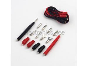 Multifunction Test Cable Banana Plug Alligator Clip Fork Slice for Multimeter