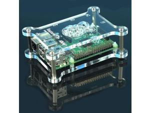 Raspberry Pi Acrylic Shell Case Box Compatible with Raspberry Pi B+ Expansion Board
