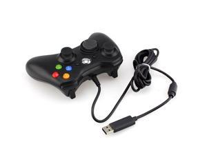 USB Wired Game Pad Controller For MICROSOFT Xbox 360 Slim PC Black