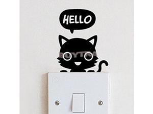 Modish NEW Cat Children's Room Bedroom Vinyl Decal Wall Switch Sticker Wall
