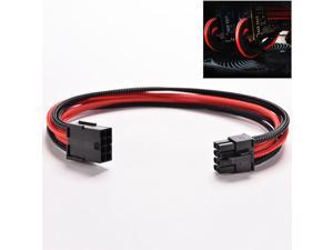 8 Pin ATX Board PSU Power Supply Extension Black Red Cable Wire 30cm