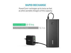 Anker PowerCore+ 26800 Premium Portable Charger High Capacity External Battery with Qualcomm Quick Charge 2.0 and PowerPort+ 1 with Quick Charge 3.0 Wall Charger