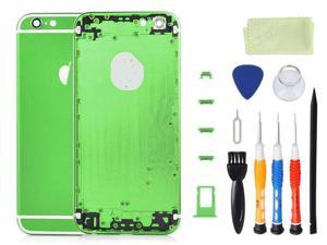 Alloy Metal Back Cover Battery Housing Middle Frame Bezel Replacement with LOGO&Buttons Kit for iPhone 6 4.7 inch  With Tool Kit - Green