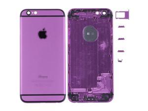 Back Battery Cover Middle Frame Metal Back Cover Housing for iPhone 6 4.7 inch - Purple + Black Regula