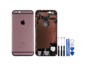Replacement Back Battery Cover Middle Frame Metal Back Cover Housing with Pre-assembled Small Parts for iPhone 6 Plus 5.5inch FREE tools - Coffee + Black Regula