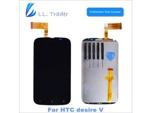 Black Hot Sell LCD Touch Screen Digitize Assembly For HTC Desire V T328w LCD Display Full Replacement parts