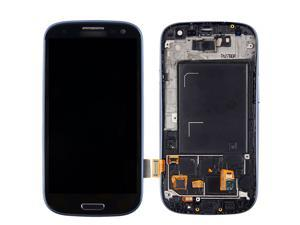 New Arrival Blue LCD Replacement For Samsung GALAXY S3 SIII i9300 LCD Display + Touch Screen Digitizer with Bezel Frame + Tools