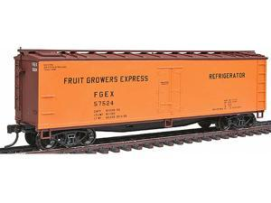 Accurail HO Scale Kit 40' Wood Reefer Car Fruit Growers Express/FGEX Orange