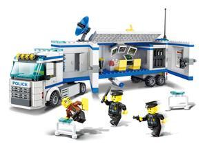 395 Pcs Mobile Police Headquarters City Toys Block Brick Figures Wange 52013