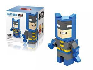 HSANHE 6301 Super Hero DC Comics Universe Batman 68Pcs Building Block DIY Brick Toy gift