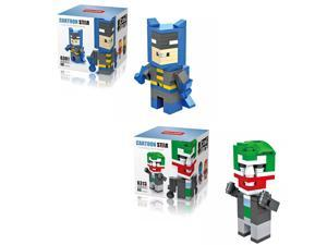 HSANHE 2Set Super Hero Batman Joker 160Pcs Building Block DIY Brick Toy figure V.1