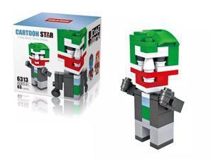 HSANHE 6313 Super Hero DC Comics Universe  Joker 63Pcs Building Block DIY Brick Toy gift