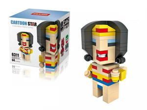 HSANHE 6311  DC Comics Universe Wonder Woman 64Pcs Building Block DIY Brick Toy figures