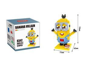 Hsanhe 8347 Minions 320Pcs Building Blocks 3D DIY Diamond Brick Toys Figure