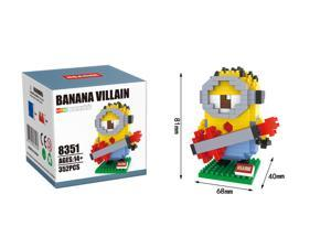 Hsanhe 8351 Minions 352Pcs Building Blocks 3D DIY Diamond Brick Toys Figure