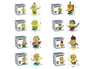 Hsanhe 8347-54 8-Set Minions 2641Pcs Building Blocks 3D DIY Brick Toys Figure