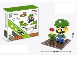 Weagle 2252 Super Mario Lugi 219Pcs Building Blocks DIY 3D Brick Toy
