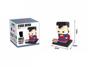 Hsanhe 8002 Super Hero Superman 119Pcs Building Blocks DIY 3D Brick Toy