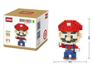 LinkGo 68161 Super Mario 345 Pcs Building Bricks Blocks 3D DIY Figures Toys