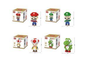 LinkGo 68161-4 4Set Super Mario 1356Pcs Building Bricks Blocks 3D DIY Figure Toy