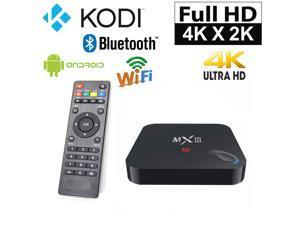 MX3 OTT IPTV Internet TV Box 4K Ultra HD Android 4.4 Quad Core 2.0GHz RAM:2GB/ROM:8GB Network Media Player