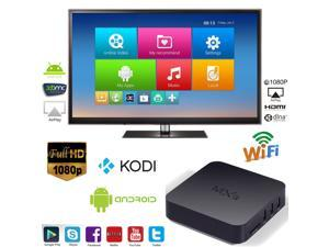 MXQ OTT IPTV Internet TV Box Full HD 1080P Android 4.4 Quad Core 1.5GHz RAM:1GB/ROM:8GB Network Media Player