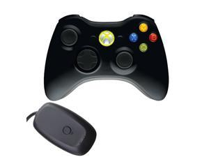 New OEM Wireless Games Controller with Free Gift Wireless Receiver for Microsoft XBox 360 Console & Windows PC Black