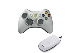 New OEM Wireless Games Controller with Free Gift Wireless Receiver for Microsoft XBox 360 Console & Windows PC White