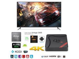 Q8 OTT IPTV Internet TV Box 4K Ultra HD Android 5.1 Quad Core 2.0GHz RAM:1GB/ROM:8GB Network Media Player