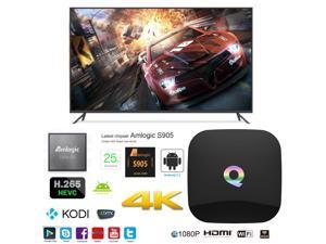 Q OTT IPTV Internet TV Box 4K Ultra HD Android 5.1 Quad Core 2.0GHz RAM:2GB/ROM:16GB Network Media Player