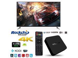 MXQ-4K OTT IPTV Internet TV Box 4K Ultra HD Android 5.1 Quad Core 1.5GHz RAM:1GB/ROM:8GB Network Media Player