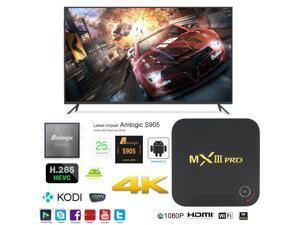 MX3-Pro OTT IPTV Internet TV Box 4K Ultra HD Android 5.1 Quad Core 2.0GHz RAM:1GB/ROM:8GB Network Media Player