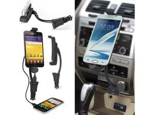 New Black General Car Phone Holder Charger for Samsung Galaxy Note S2 S3 S4 Lenovo P6 Stand Smartphone Mount Bracket USB Charger HC03S5
