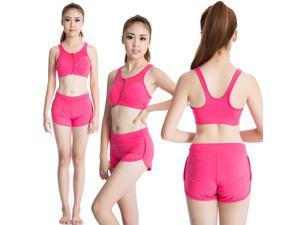 Women's Running Sports Bra Shorts Suits Gym Bodybuilding Clothing Treadmill Yoga Vest Shorts Fitness Clothes Dance Costume Perspiration Wicking Elastic Sportswear Tank Top