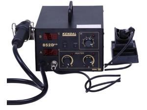 Kendal 2 IN 1 SMD HOT AIR REWORK SOLDERING IRON STATION 852D++