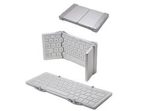 TOZO Portable Foldable Bluetooth Keyboard Ultra-slim Mini Wireless Keyboard for iOS Android Windows PC Tablet Smartphone Built in Rechargeable Li-polymer Battery