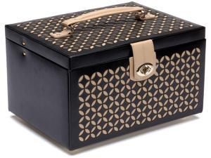 Wolf Designs Womens Palermo Flat Leather Jewelry Boxes